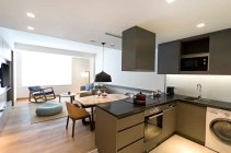 Andaz Delhi By Hyatt - 1 BHK Living Room and open kitchen
